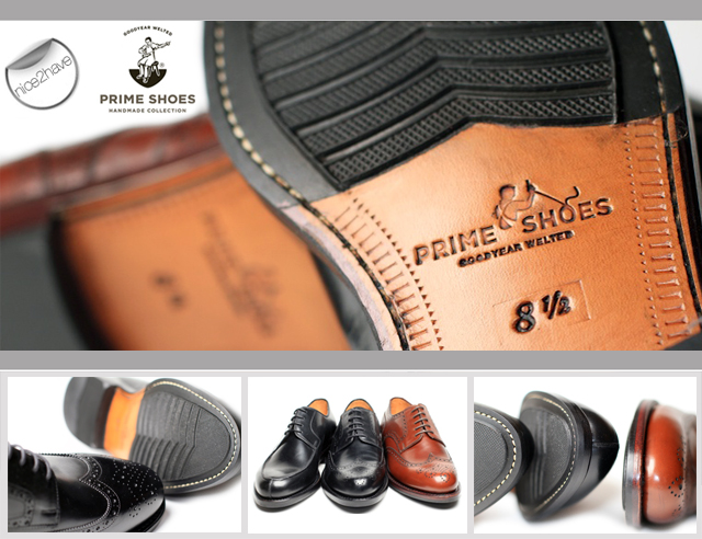Prime Shoes Leather Rubber Sole