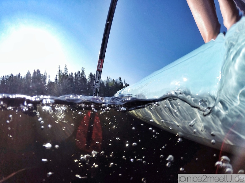 Red Paddle GoPro Shot